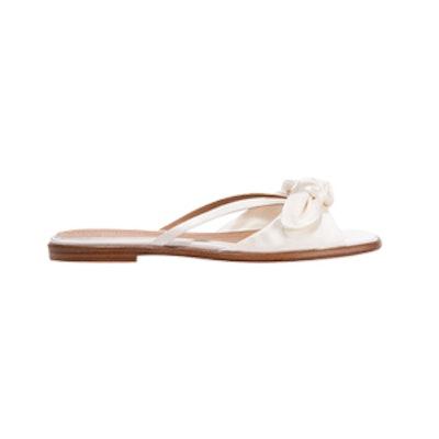 April Bow-Embellished Silk-Satin Sandals