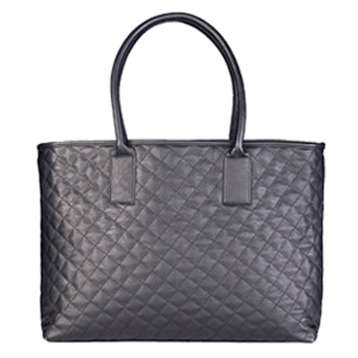 Faux Leather Quilted Tote