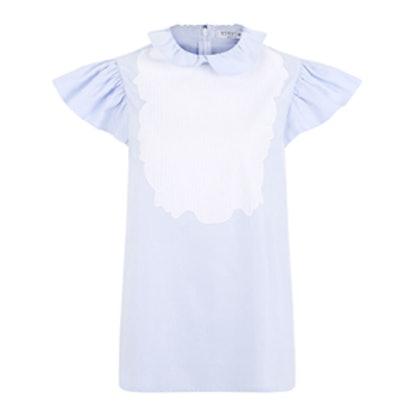 Blue Cotton Poplin Lizete Blouse