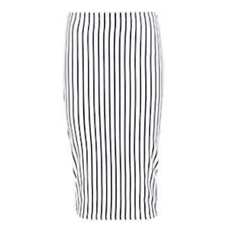 Mia Bandage Stripe Longer Line Midi Skirt