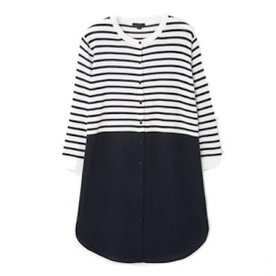 Striped Dress with Silk Skirt