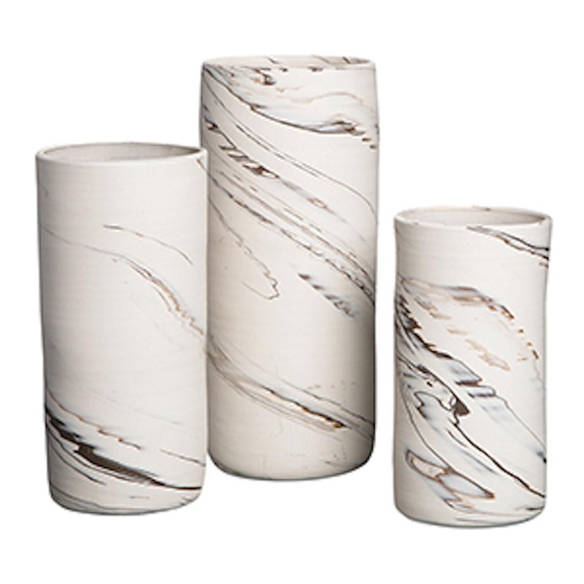 Agateware Porcelain Vases