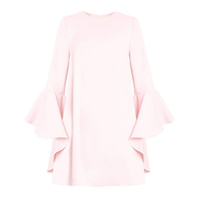 A-Line Dress With Ruffled Sleeves