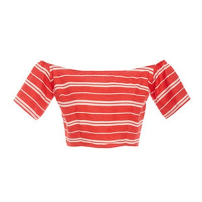 Linen Stripe Crop Top