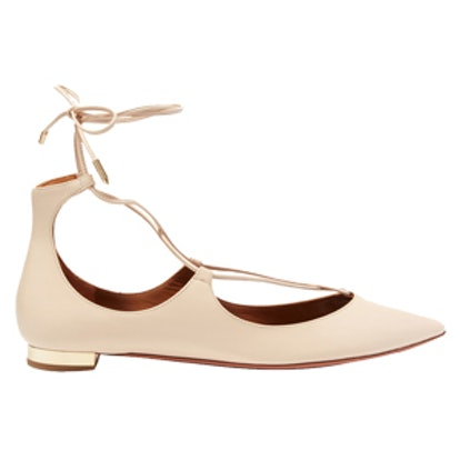 Christy Leather Point-Toe Flats