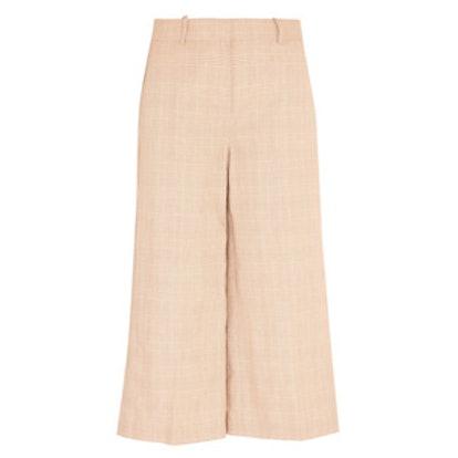 Collection Plaid Linen And Cotton-Blend Culottes