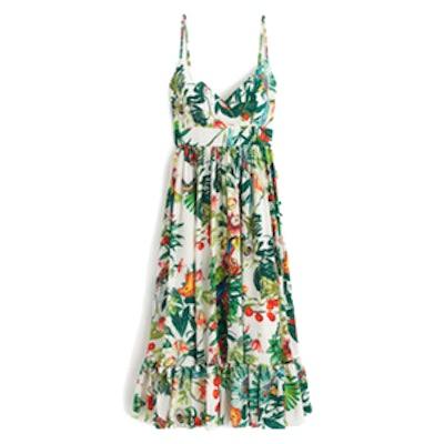 Collection Silk Ruffle Dress