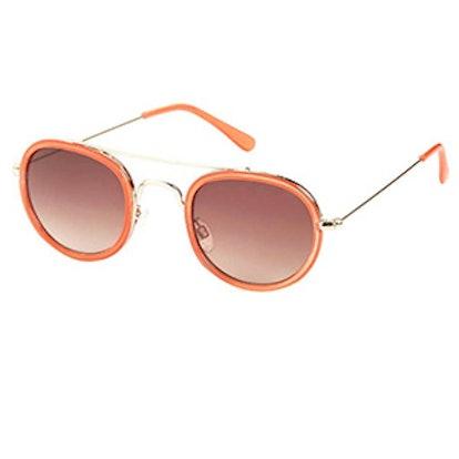 Milton Metal Oval Sunglasses