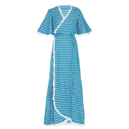 Cristina Cotton Maxi Wrap Dress
