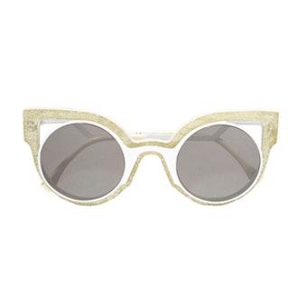 Cutout Cat‐Eye Glittered Acetate Sunglasses