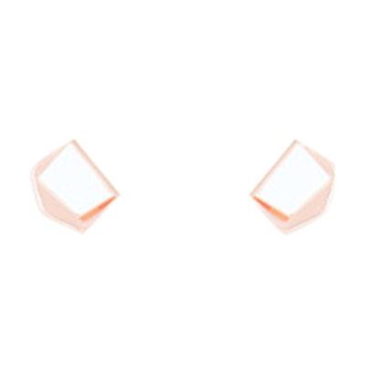 Folded Metal Earrings