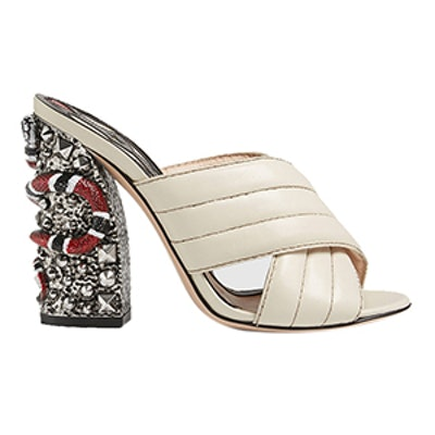 Leather Crossover Sandal