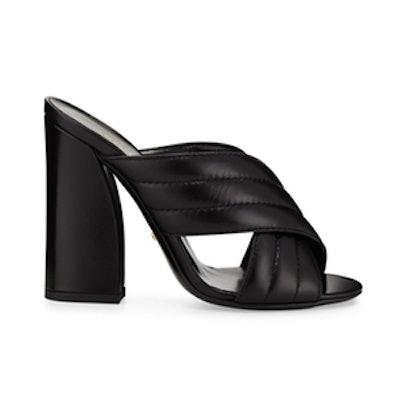 Webby Leather 110mm Slide Sandal