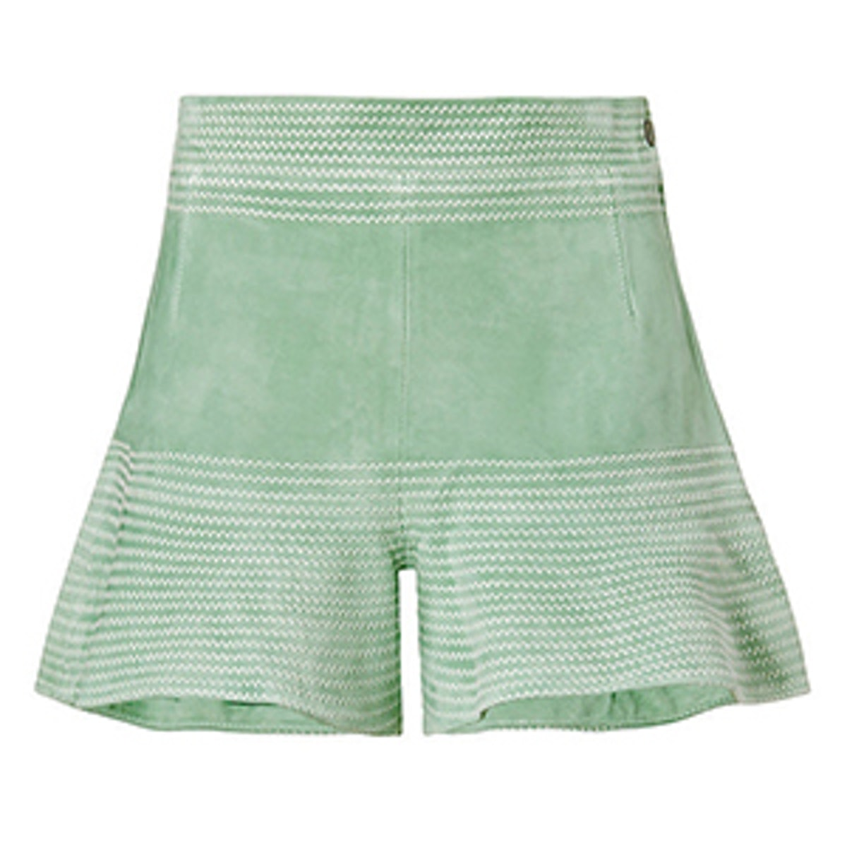 Guy Suede Flare Shorts