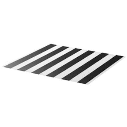 Place Mat, Stripe, Black/White