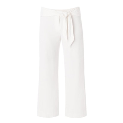 Imperial Cropped Tie Waist Pant