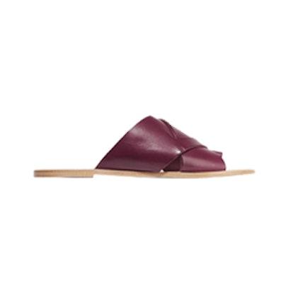 Ilaria Leather Slides
