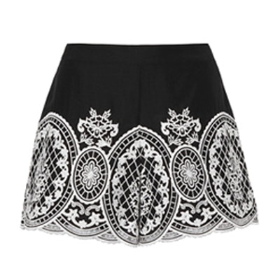 Autumn Embroidered Shorts