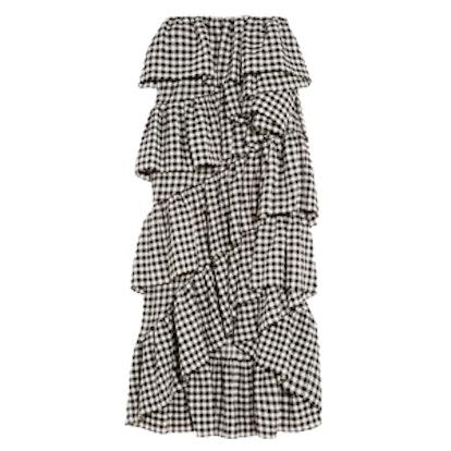 Full On Ruffled Crinkled Cotton-Blend Skirt