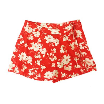 Floral Skort With Side Lace