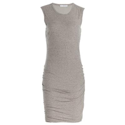 Draped Cotton Jersey Dress