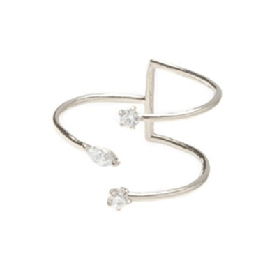 Silver Loose Ends Ring
