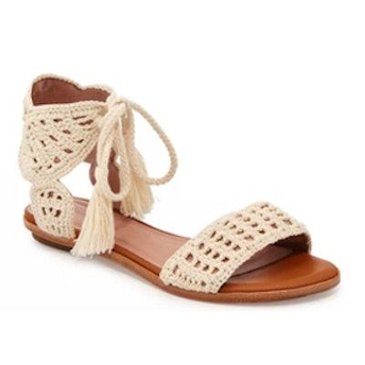 Jolee Crochet Flat Sandal