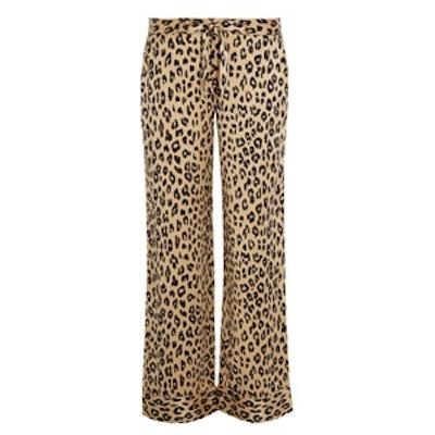 Avery Leopard-Print Pajama Pants