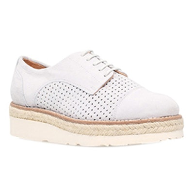 Lucky Grey Platform Brogue Shoes