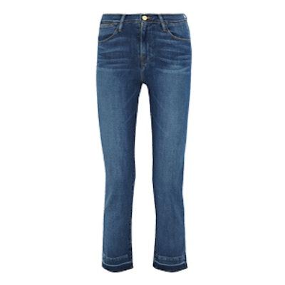 Le High Cropped Slim-Leg Jeans