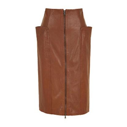 Leather High-Waisted Skirt