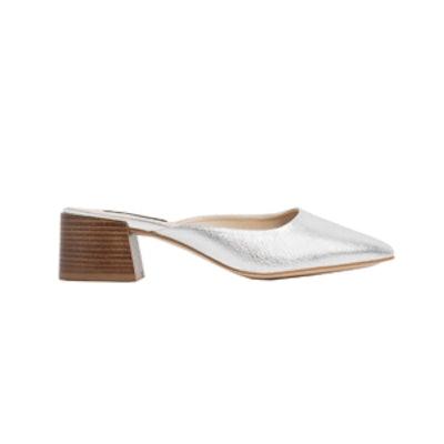 Leather Slingback High Heel Shoes