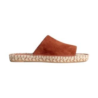 Leather Slip-On Sandals