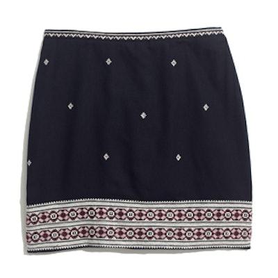 Embroidered Gamine Skirt
