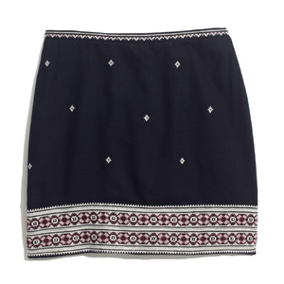 Embroidered Gamine Skirt