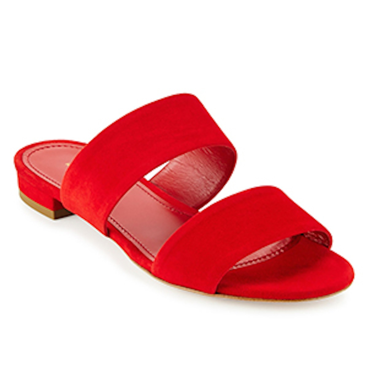 Suede Two-Band Sandal