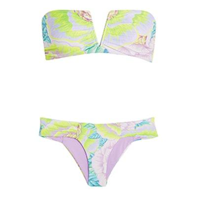 Neon Printed Bandeau Bikini
