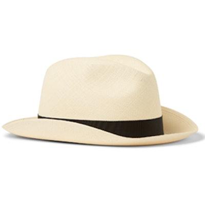 Classic Woven Straw Panama Hat