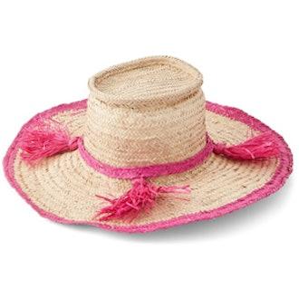 Woven Tassel Hat