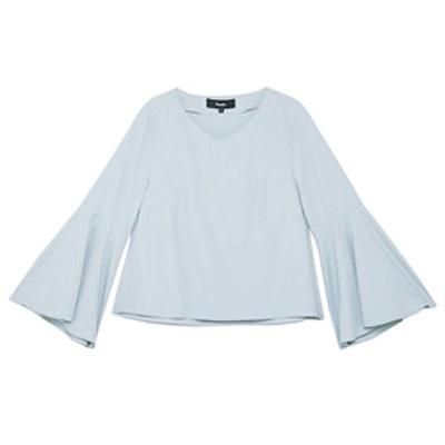 Abarrane V-Neck Bell Sleeve Blouse