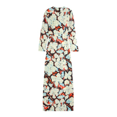 Printed Twill Gown