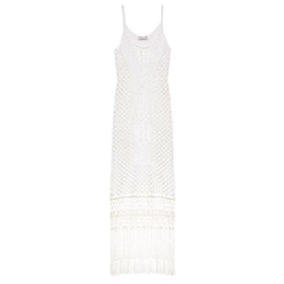 Jess Fringed Knit Dress