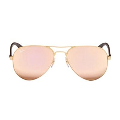 Metal Aviator Mirror Sunglasses