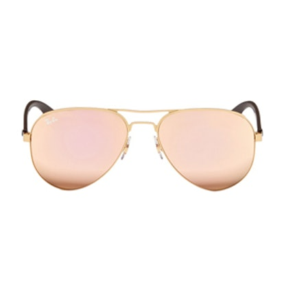 Metal Aviator Mirror Sunglasses