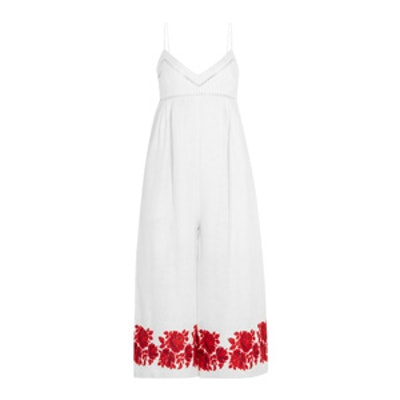 Roza Embroidered Linen Jumpsuit
