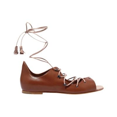 Savannah Lace-Up Leather Sandals