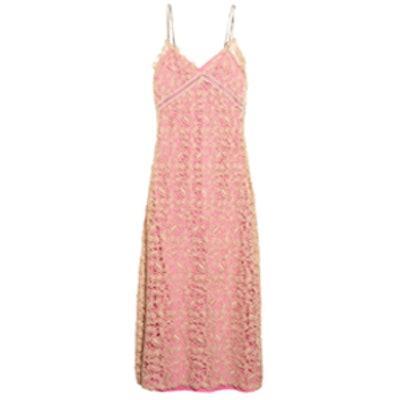 Sleeveless Lace Slip Dress