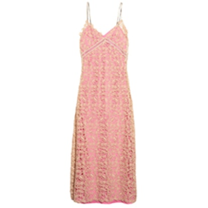 Sleeveless Lace Slip Dress