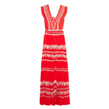 Flower Spell Chiffon Maxi Dress