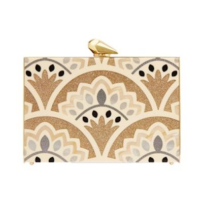 Simone Merrick Glittered Perspex Box Clutch